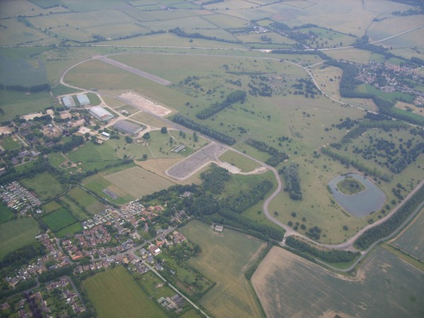 Aerial view of Longstanton & Oakington 2008 - (photograph by C Shephard)